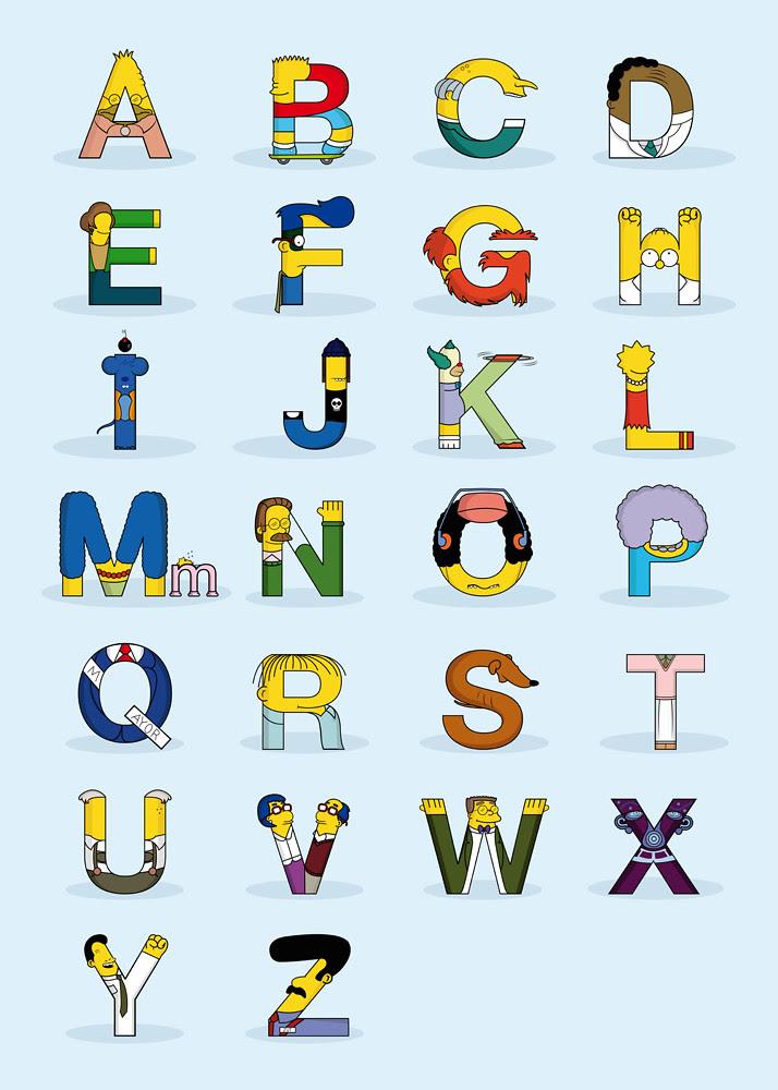Simpsons Alphabet (Simphabet), by Fabian Gonzalez