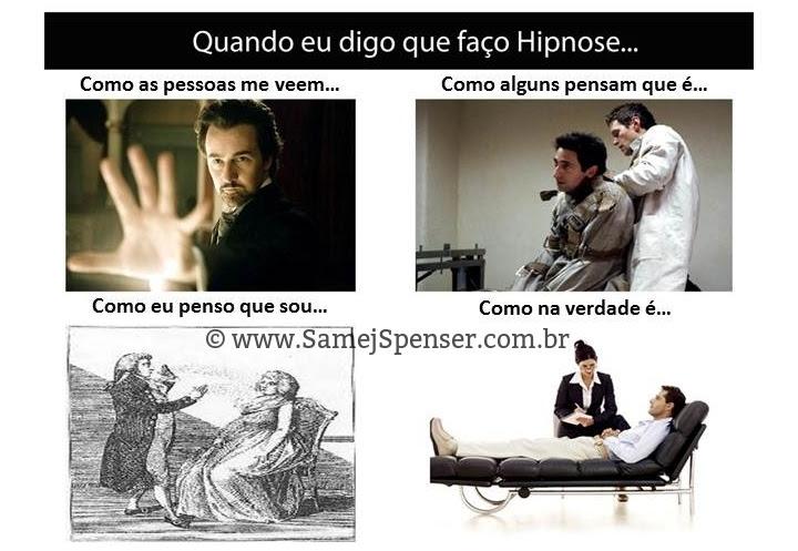 MONTAGEM: Comparações entre interpretações infundadas sobre a prática da hipnose