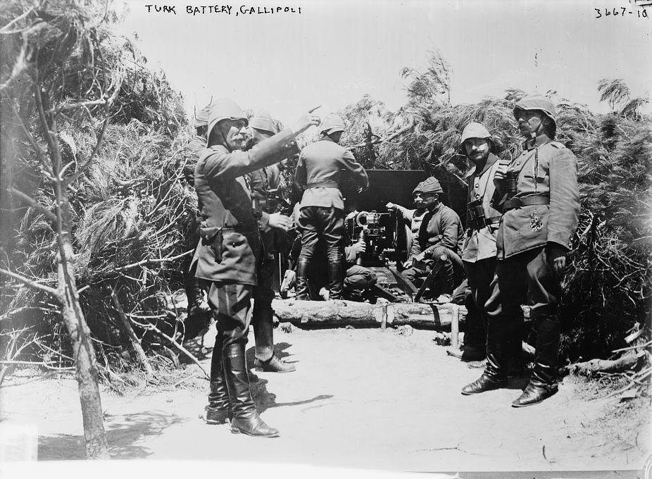 Ottoman battery at Gallipoli