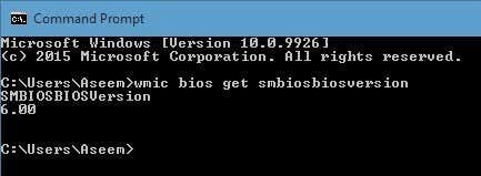 bios version cmd