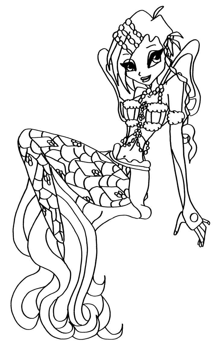 makko mermaids kleurplaat