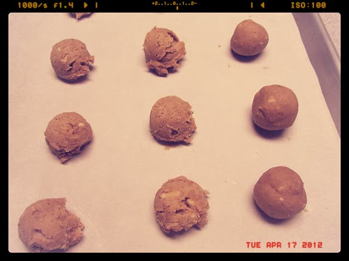 Making Peanut Butter & Port Thumbprints