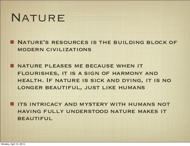 short essay on beauty of nature