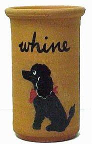 Black Standard Poodle Terra Cotta Whine Cooler (Wine Cooler)