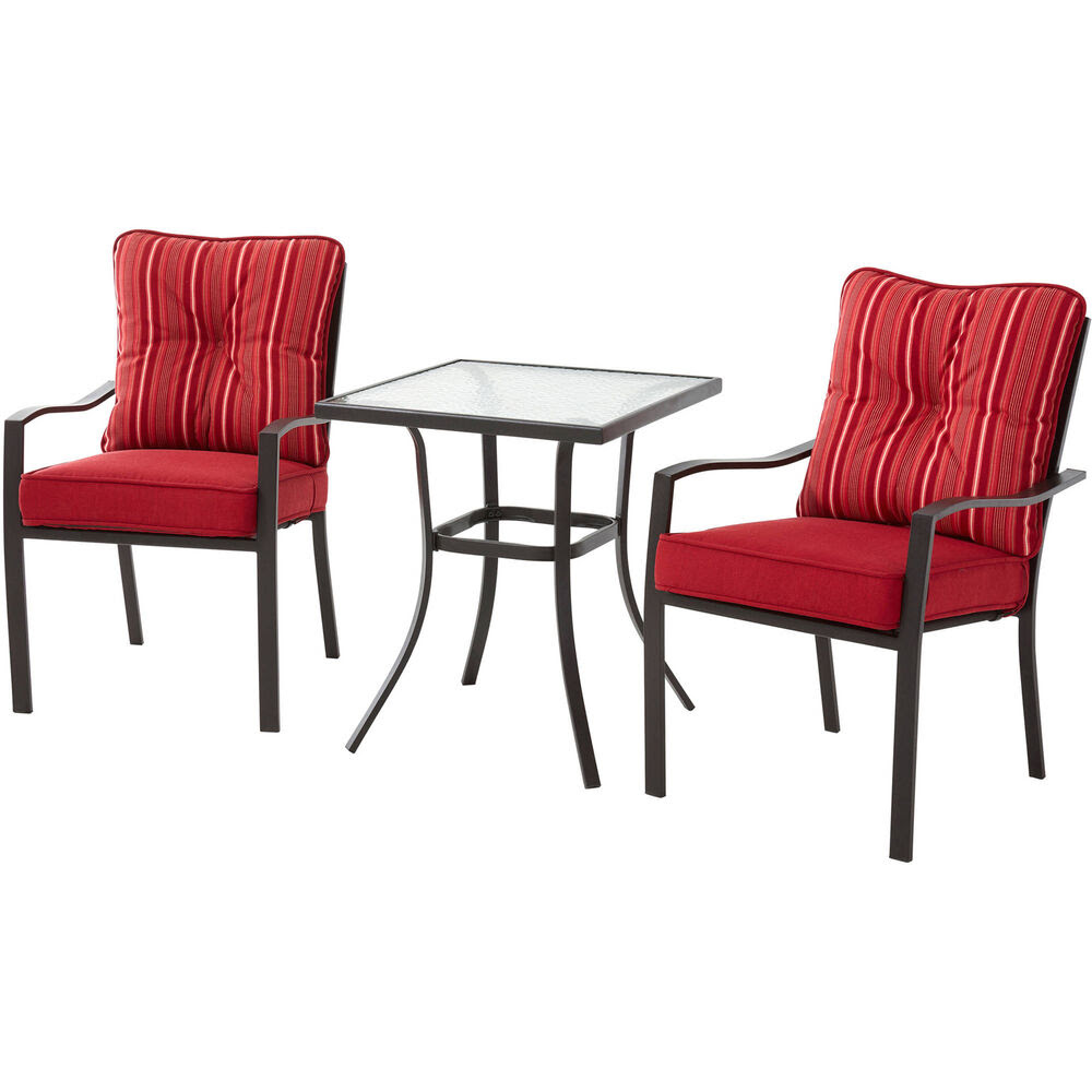 Patio Bistro Set Outdoor Furniture Table Chairs 3 Piece ...