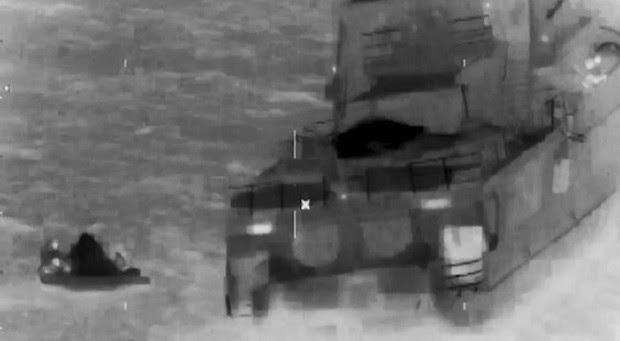 Guarda Costeira americana gravou o resgate do iate Serena III, com 13 brasileiros a bordo (Foto: Reprodução/US Coast Guard/Youtube)