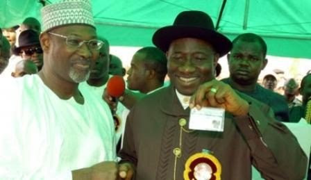 Image result for president jonathan to jega