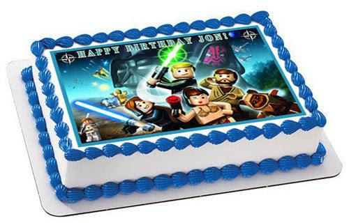 Lego Star Wars 6 Edible Birthday Cake Or Cupcake Topper Edible