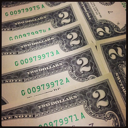 Two-dollar bills