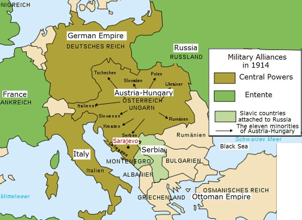 world war 1 map europe 1914