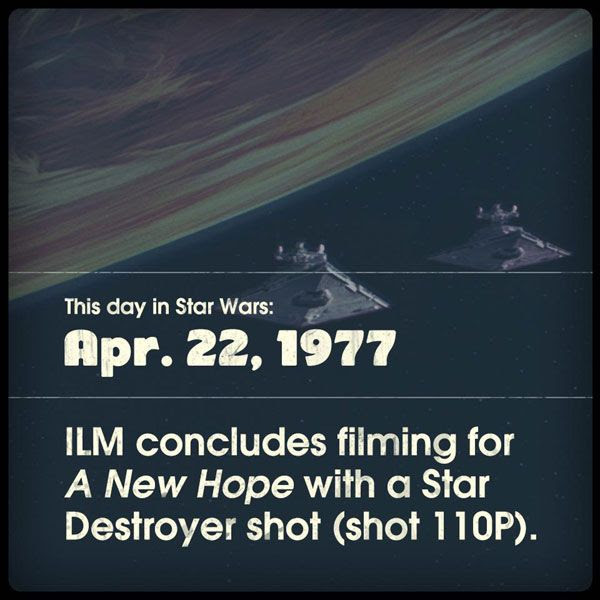 Two Star Destroyers are on the attack in what is now STAR WARS: EPISODE IV - A NEW HOPE.