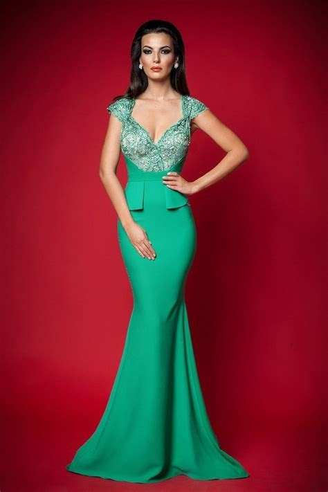 Gorgeous Green Long Formal Dress Pictures, Photos, and