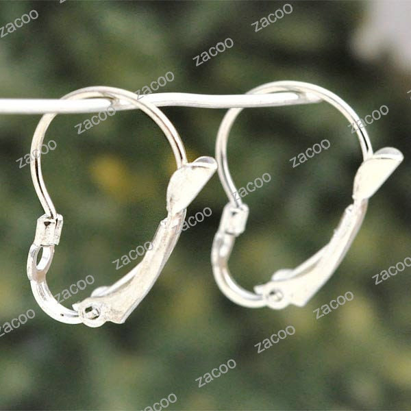 18pcs Silver Lever Back Earring Hook earwires 19x25mm EF0026 - zacoo