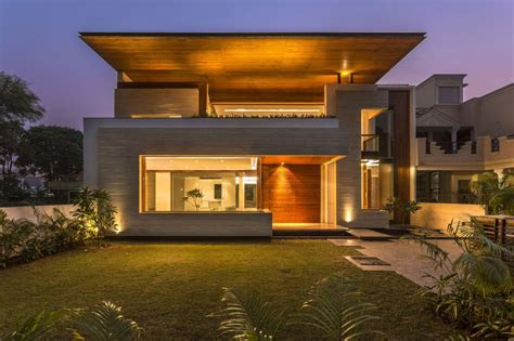 sleek modern home  indian sensibilities
