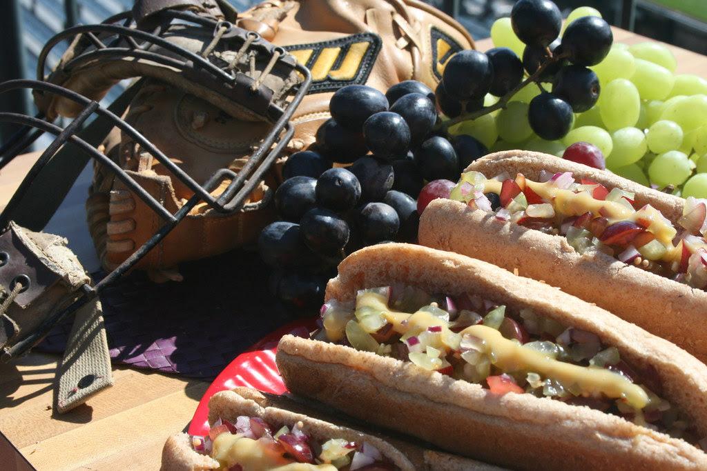 Hot Dogs w/Grape Relish