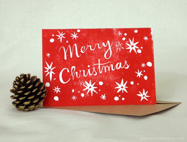Christmas card: Merry Christmas