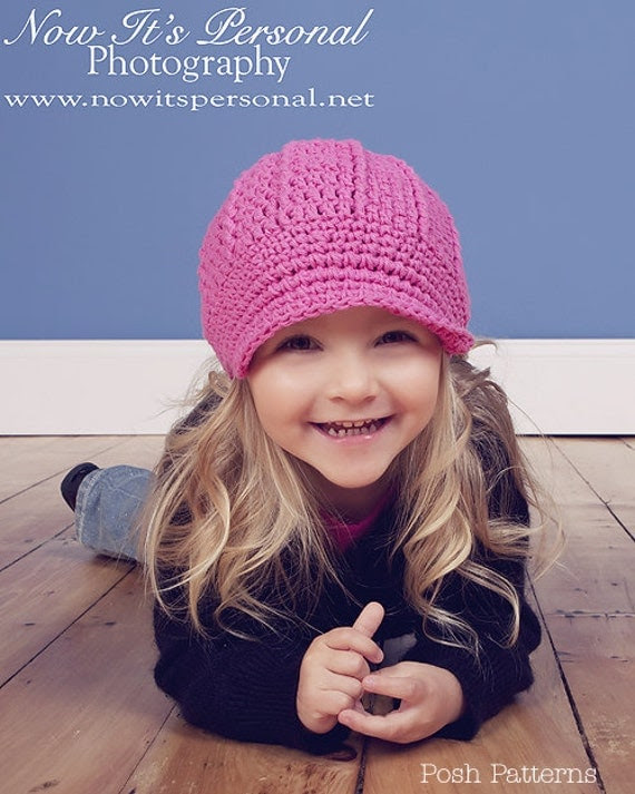 Crochet PATTERN Hat Newsboy Newsgirl Hat Or Beanie Crochet PDF 108 - Newborn to Adult - Photo Prop - Permission To Sell Finished Items