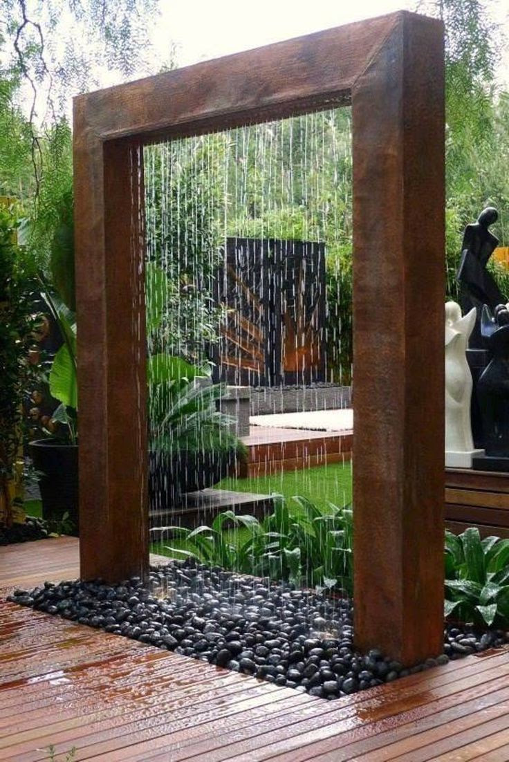 Backyard water feature design ideas