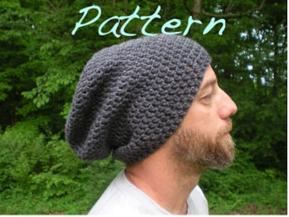 PATTERN:  SIMPLE and EASY, The Perfect Slouch-  Unisex, slouchy beanie, crochet hat P D F, permission to sell