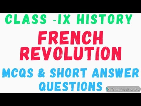Mcq on french revolution