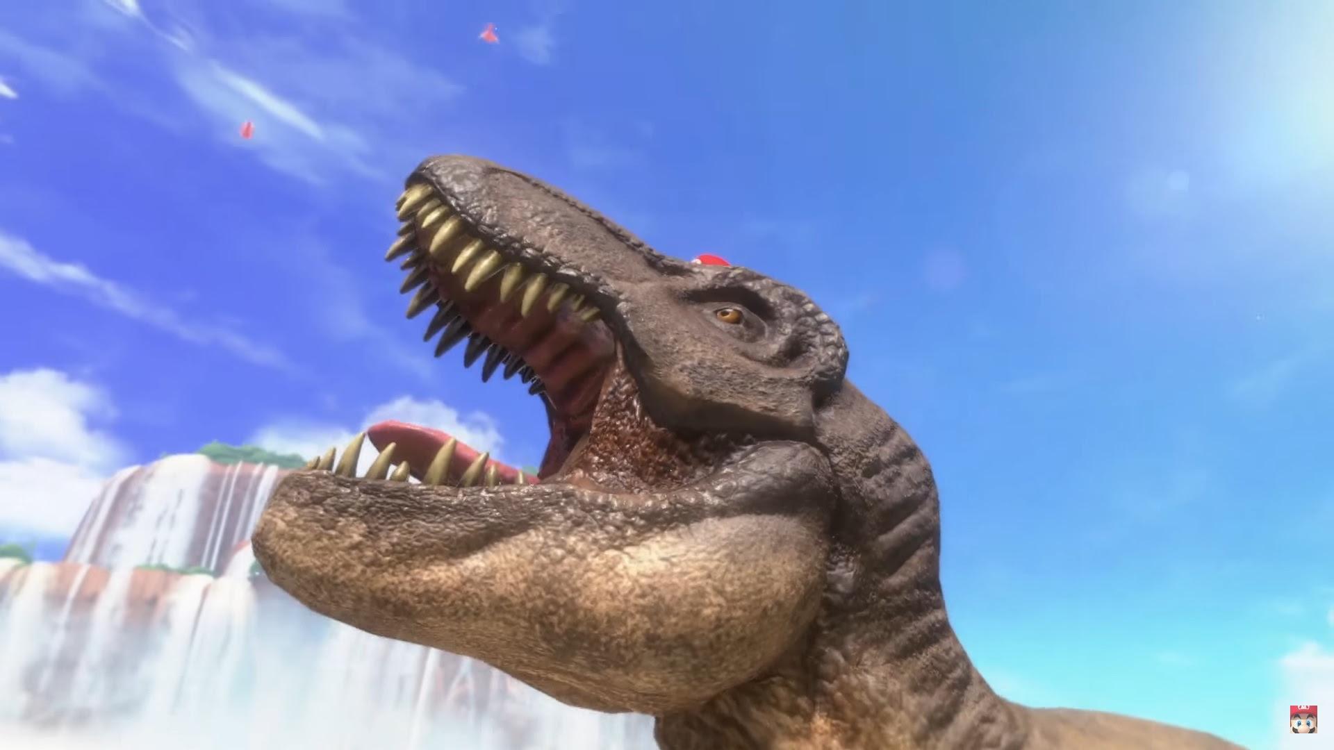 There's a friggin T-rex in Super Mario Odyssey screenshot