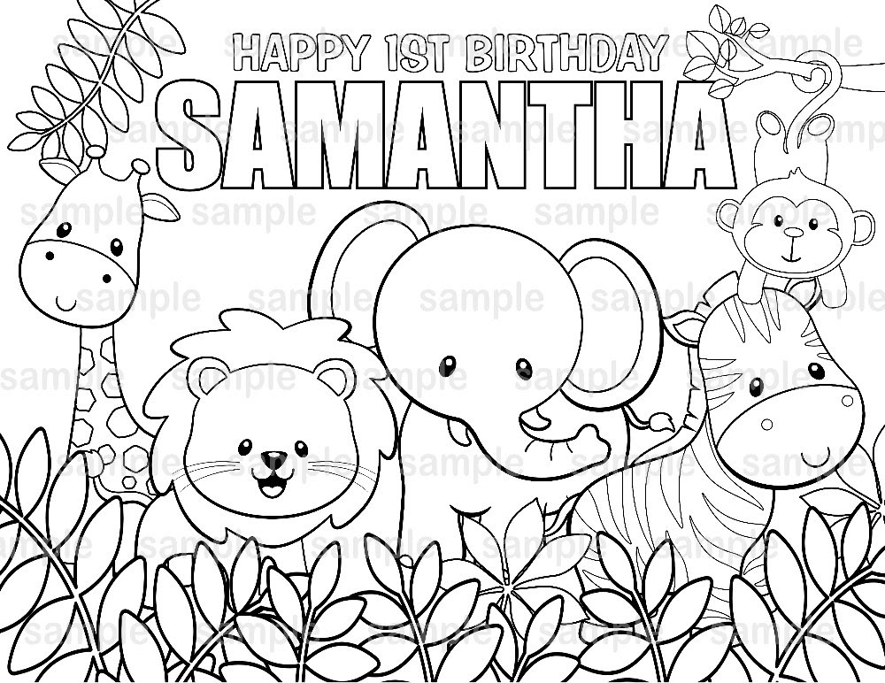 6600 Top Printable Coloring Pages Safari Animals For Free