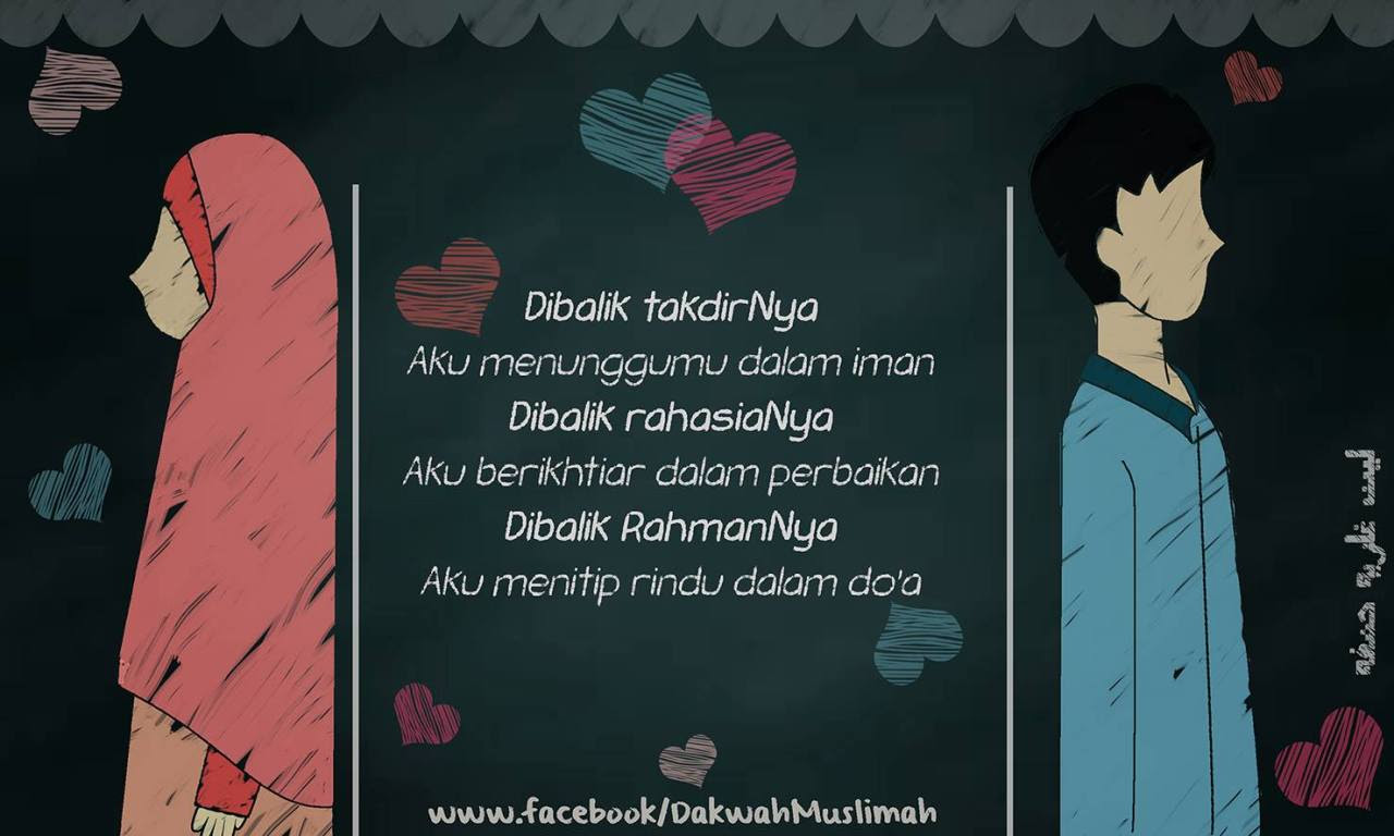 Kartun Muslimah Mengutip Singkat Dari Kisah Cinta Sayyidina Ali