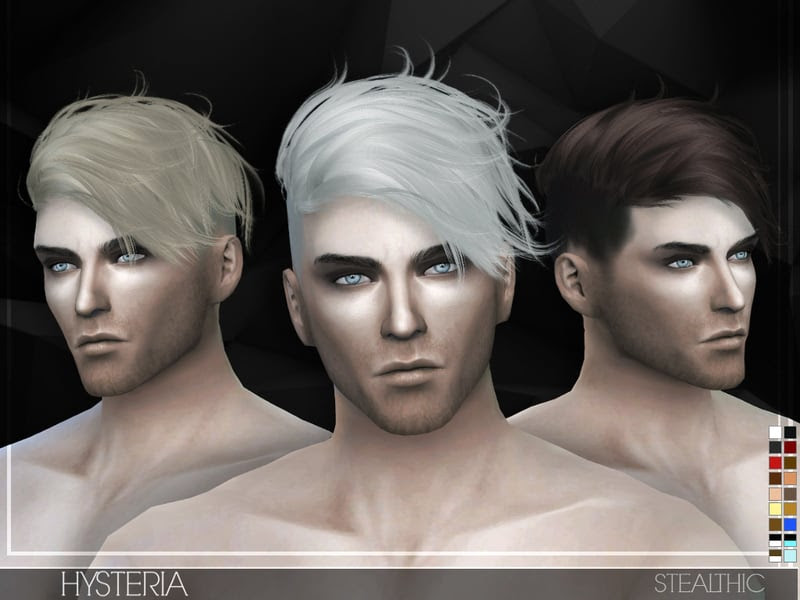 Stealthic - Hysteria (Male Hair) - Sims 4 Mod Download Free