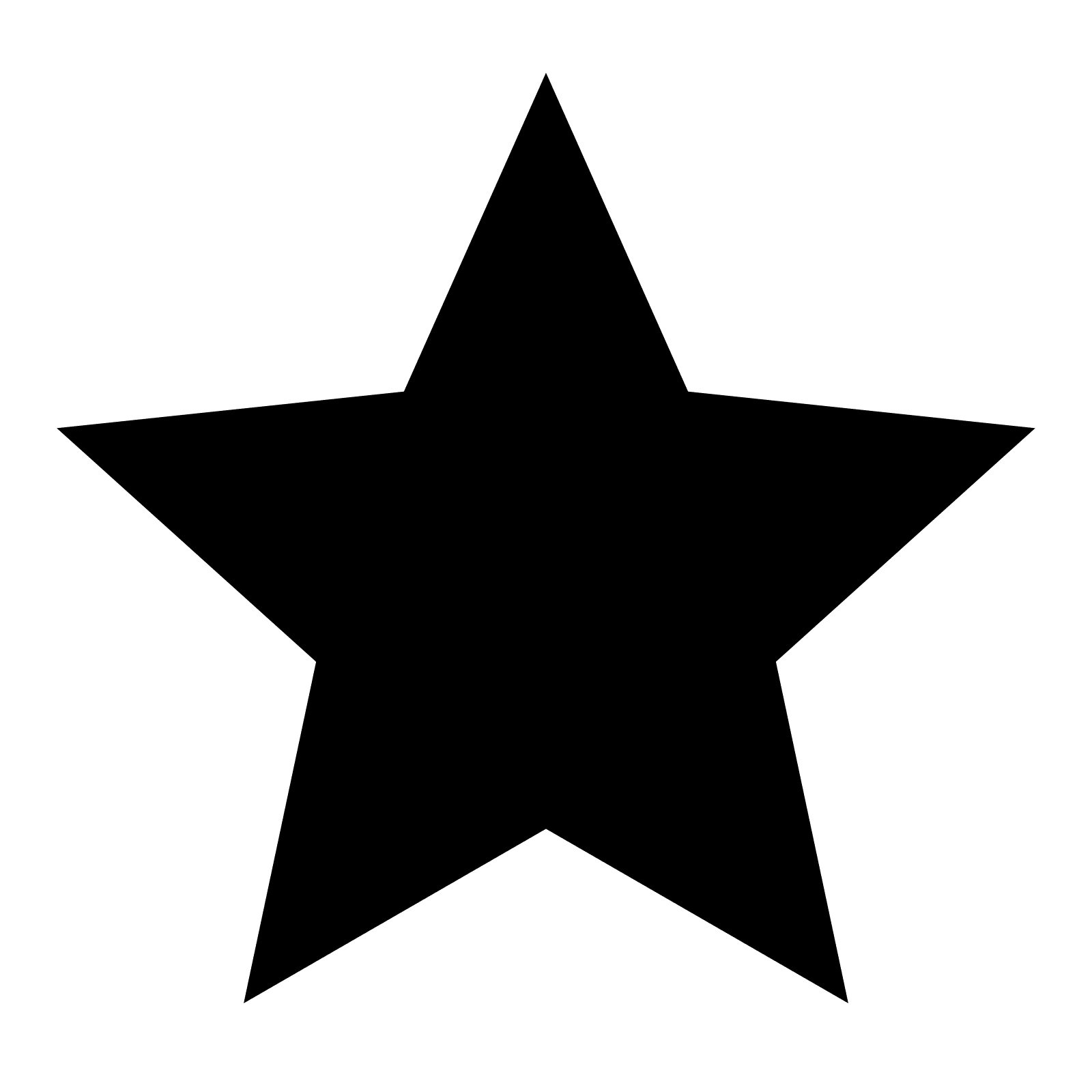 Star Android Clip art - black star png download - 1600 ...