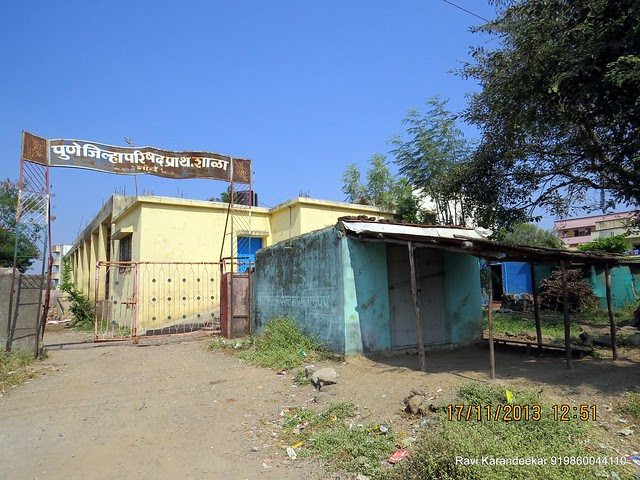 "Z P School at Nande - Visit Amit Rujuta Ventures' ""Gloria"" 1 BHK 1.5 BHK 2 BHK Flats at Nande near Hinjewadi on Pirangut Nande  Road Taluka Mulshi District Pune 412115"