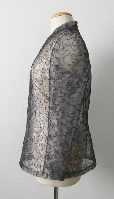 Silk jacket side