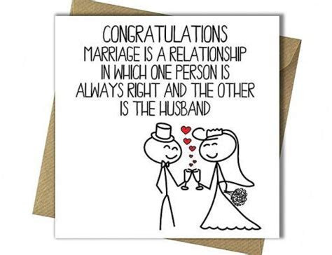 18 Hilarious Examples For Funny Wedding Cards   Wedding