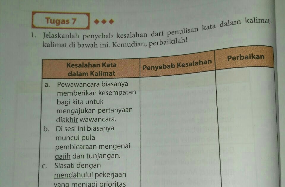 Kunci Jawaban Bahasa Indonesia Halaman 108 Bahasa Indonesia Kelas 11 Edisi Revisi
