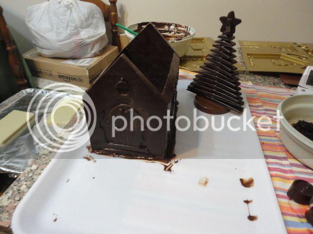 Casetta Di Natale Di Cioccolato : Bimbylandia: casetta di cioccolato fondente e bianco natale 2012