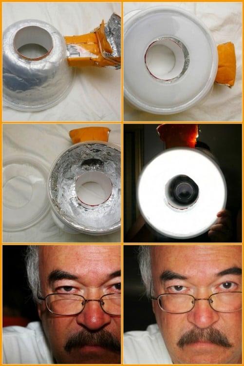 Proceso para realizar un flash en forma de anillo