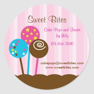 Cake Pops Bakery Sticker