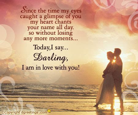 Darling I am in love with you.Propose Greetings, Cards.