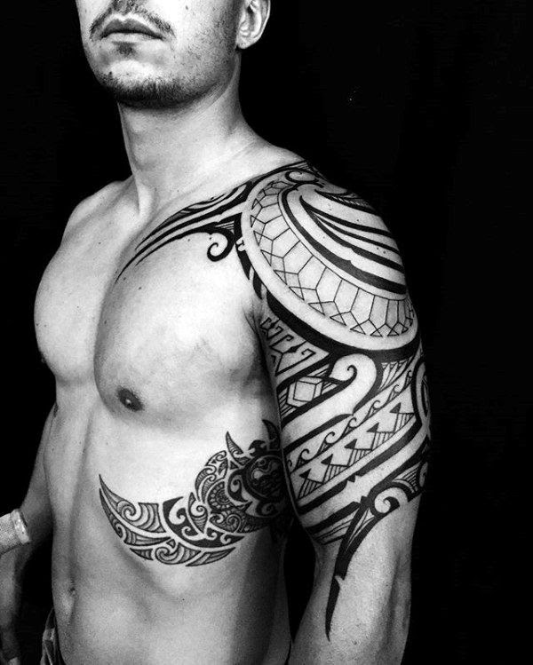 Top 40 Best Tribal Rib Tattoos For Men Manly Ink Design Ideas