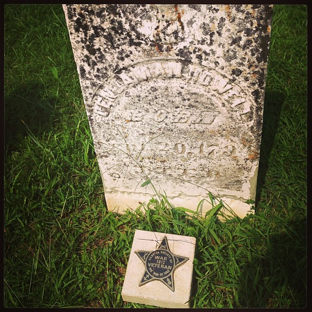 Rode by an old cemetery. This stone was for a care ran of the War of 1812. So much history!
