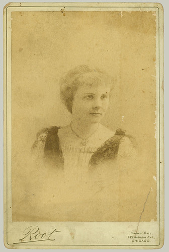 Cabinet Card portrait of Grace Newsome Clark