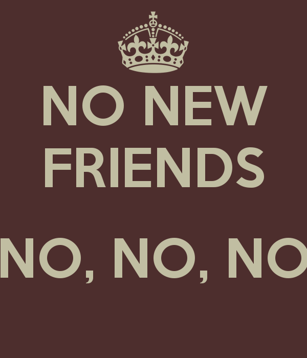 Quotes About No New Friends 31 Quotes