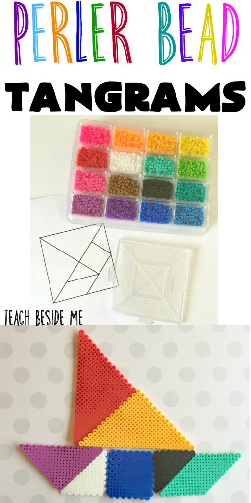 Peeler Bead Tangrams from Teach Beside Me