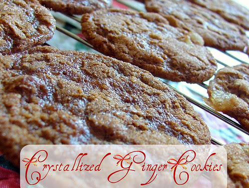 crystallized ginger cookies lede