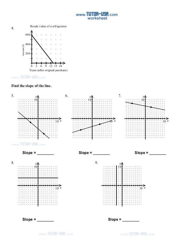 Finding Slope Worksheet Graph  finding slope from a graph worksheet doc worksheetsnew september