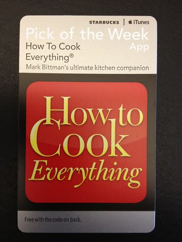Starbucks iTunes Pick of the Week - How to Cook Everything [app]