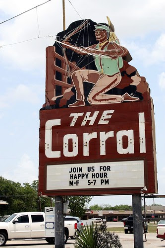 the corral neon sign