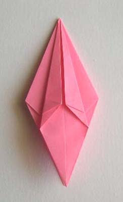 top edges of kite folded to centerline