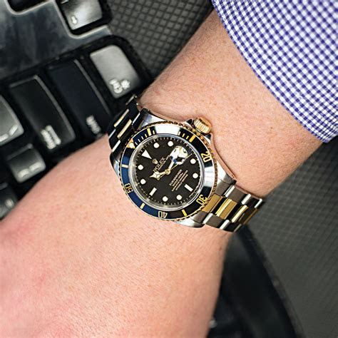 Pre Owned Rolex ?Submariner Date? 40mm Two Tone Watch