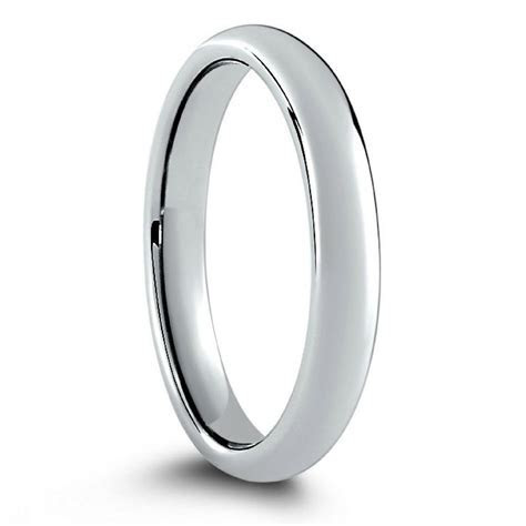 Classic Silver Tungsten Wedding Band Widths 2mm 3mm
