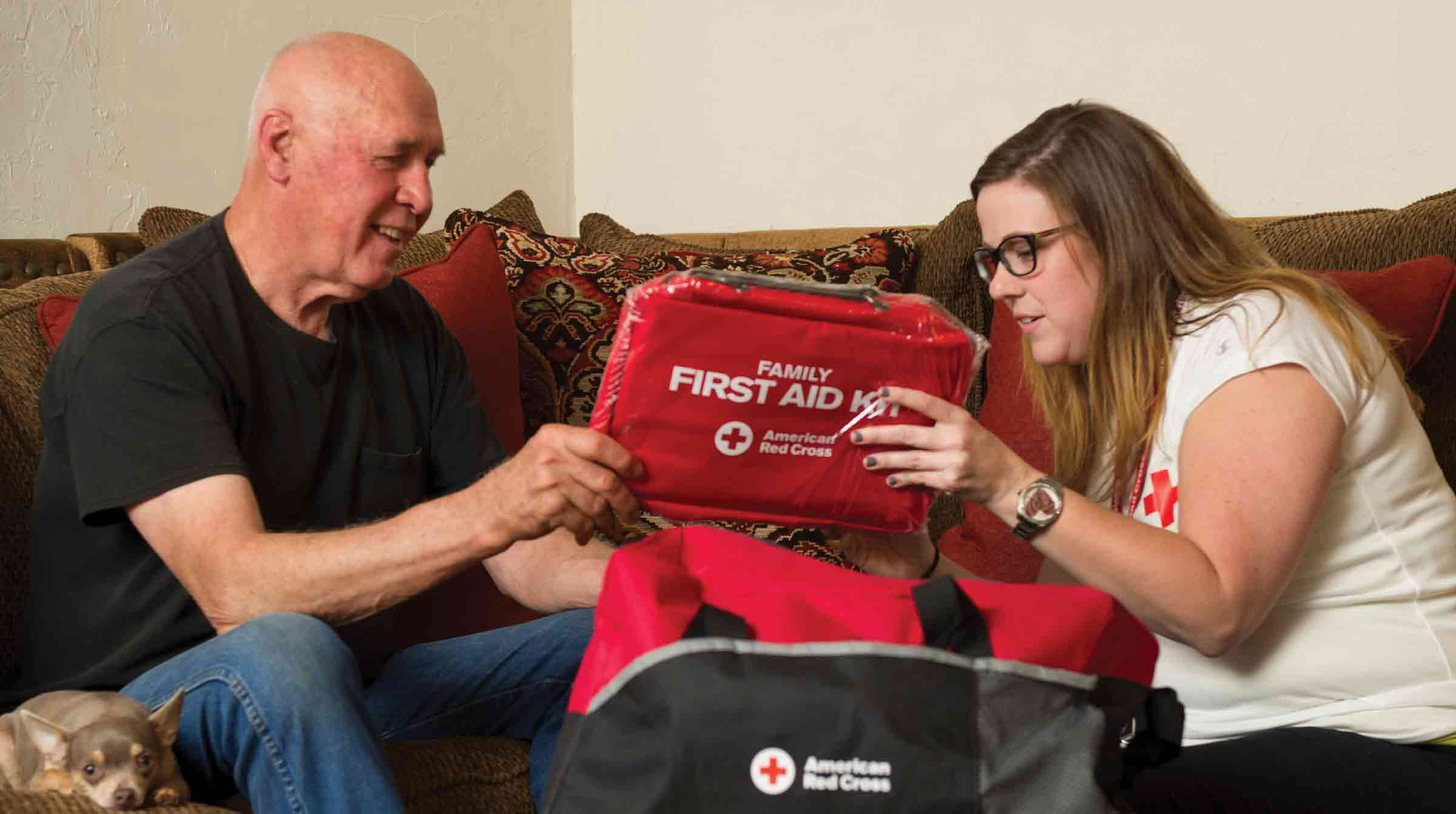 Family discusses emergency preparedness plan